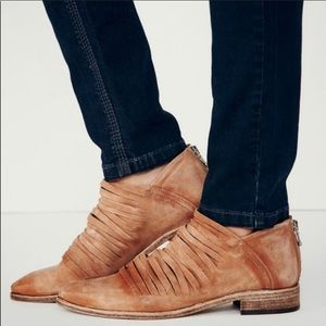 Free People Tan Lost Valley Ankle Boots/Booties 38